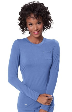 Clearance koi Sapphire Women's Sandra Long Sleeve Crewneck T-Shirt