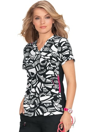 Clearance koi Lite Women's Philosophy Geo Inception Print Scrub Top