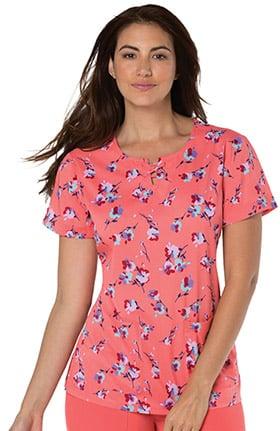 Clearance koi Sapphire Women's Camilla Floral Print Scrub Top
