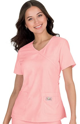 Clearance koi TECH Women's Abby Mock Wrap Solid Scrub Top