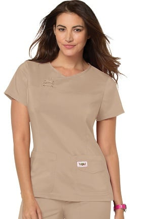 Clearance koi TECH Women's Serena Crossover Y-Neck Solid Scrub Top