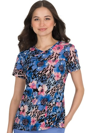 koi Prints Women's Serena Animal Print Scrub Top