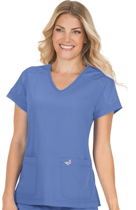 Clearance koi Mariposa Women's Cassie V-Neck Solid Scrub Top