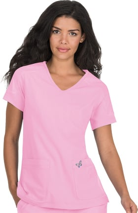 Clearance koi Mariposa Women's Cassie V-Neck Solid Scrub Top