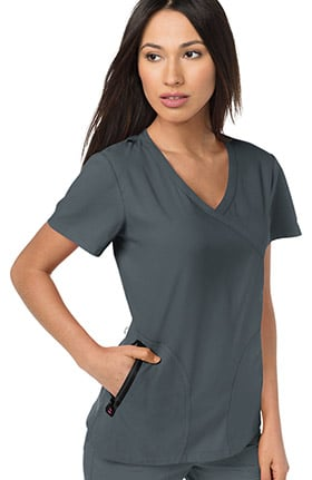 Clearance koi Lite Women's Unity Mock Wrap Solid Scrub Top