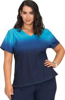 koi Lite Women's Reform V-Neck Ombre Scrub Top