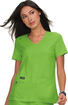koi Basics Women's Becca V-Neck Solid Scrub Top