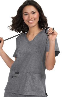 koi Basics Women's Becca V-Neck Solid Scrub Top