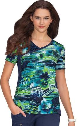 Clearance koi Prints Women's Raquel Paradise Print Scrub Top