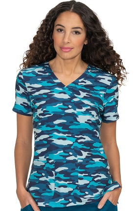 Clearance koi Prints Women's Kristen Rapids Print Scrub Top