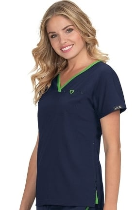 koi Basics Women's Janet Solid Scrub Top