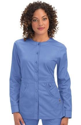 koi Classics Women's Olivia Round Neck Solid Scrub Jacket