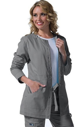 Clearance koi Classics Women's Olivia Round Neck Solid Scrub Jacket