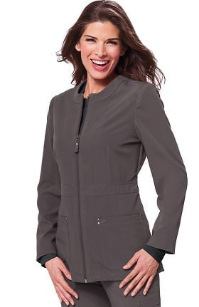 koi Sapphire Women's Deja Round Neck Zip Front Scrub Jacket