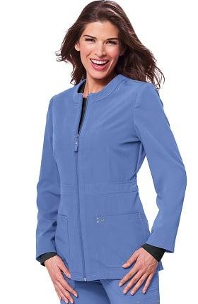 Clearance koi Sapphire Women's Deja Round Neck Zip Front Scrub Jacket