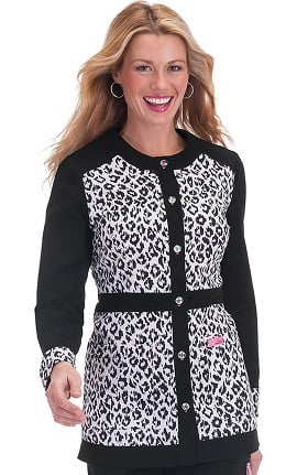 Clearance koi Prints Women's Ophelia Button Front Print Jacket