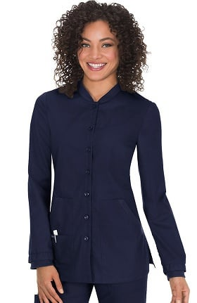 koi Classics Women's Callie Button Front Scrub Jacket