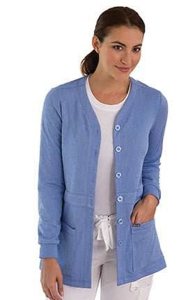 Clearance koi Lite Women's Claire Button Front Solid Cardigan Scrub Jacket