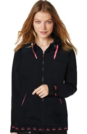 koi Lite Women's Joyful Zip Up Solid Scrub Jacket
