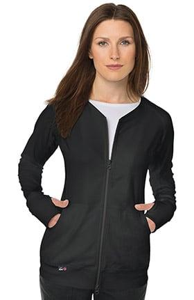 koi Lite Women's Clarity Zip Front Solid Scrub Jacket