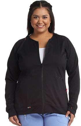 koi Lite Women's Clarity Zip Front Solid Scrub Jacket