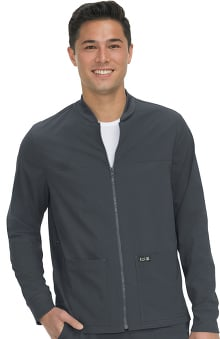 koi Basics Unisex Hayden Zip Front Solid Scrub Jacket