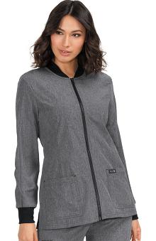 koi Basics Women's Andrea Zip Front Solid Scrub Jacket