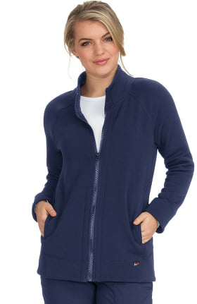 koi Lite Women's Wellness Solid Scrub Jacket