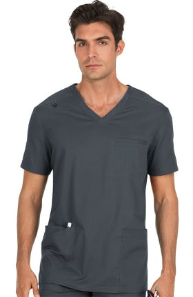 koi Stretch Men's Tyler V-Neck Solid Scrub Top