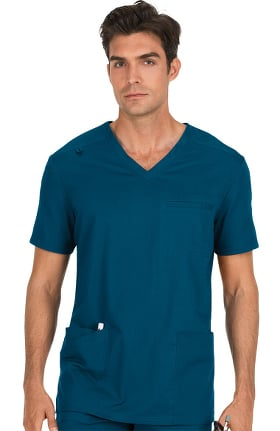 Clearance koi Stretch Men's Tyler V-Neck Solid Scrub Top