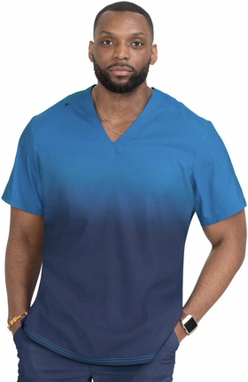 koi Lite Men's Soul Ombre Scrub Top