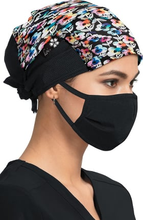 koi by tokidoki Women's Covered In Flowers Print Scrub Hat
