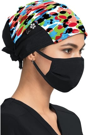 koi by tokidoki Women's Flower Pop Print Scrub Hat