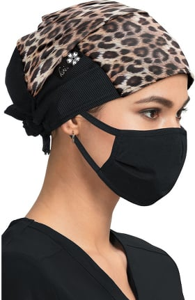 koi Accessories Women's Real Leopard Print Scrub Hat