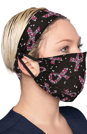 koi Accessories Women's Print Headband & Mask Combo