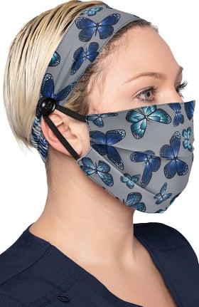 koi Accessories Women's Print Headband & Mask Combo