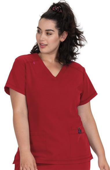 ec5df67131d Betsey Johnson by koi Women's Freesia Solid Scrub Top   allheart.com