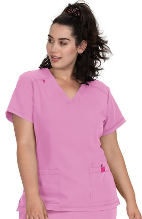 Clearance Betsey Johnson by koi Women's Freesia Solid Scrub Top