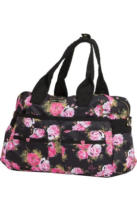 Betsey Johnson by koi Women's Beautiful Rose Print Utility Bag