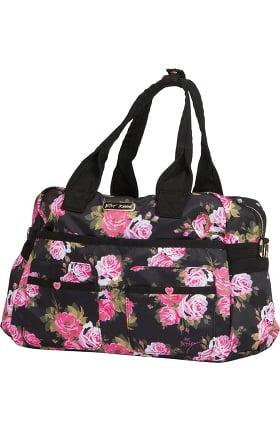 Clearance Betsey Johnson by koi Women's Beautiful Rose Print Utility Bag
