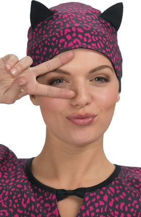 Betsey Johnson by koi Women's Surgical Animal Print Scrub Hat