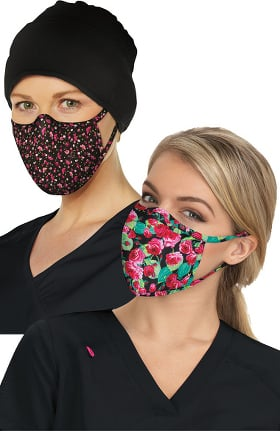 Betsey Johnson by koi Women's Print Face Mask 2 Pack