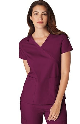 Orange Standard Women's Coronado Mock Wrap Solid Scrub Top