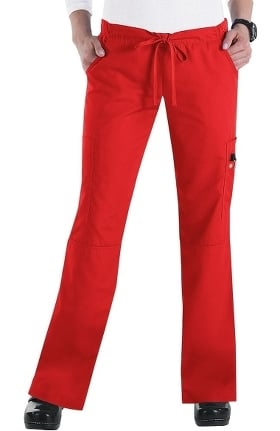 Clearance Orange Standard Women's Laguna Cargo Scrub Pant