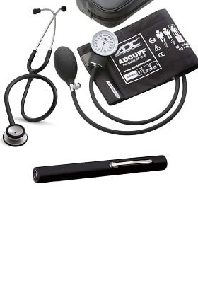 3M Littmann Classic II SE Stethoscope with ADC Phosphyg Sphygmomanometer and Penlight Kit