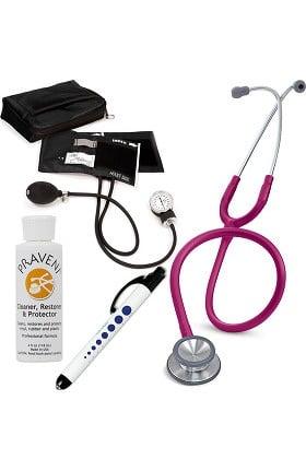 3M Littmann Classic II SE, Prestige Medical Adult Sphygmomanometer with Case, Quick Lites Penlight and Praveni Cleaning Kit