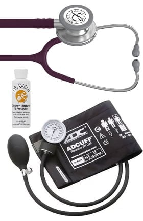3M Littmann Classic III™, ADC Phosphyg Sphygmomanometer and Praveni Cleaning Kit