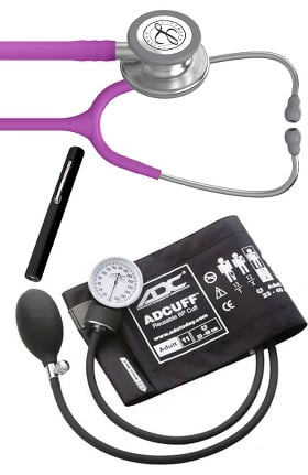 3M Littmann Classic III Stethoscope, ADC Phosphyg Sphygmomanometer & Prestige Penlight Kit
