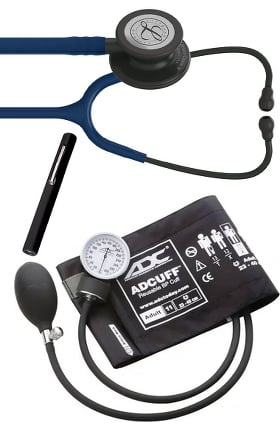 3M Littmann Classic III™ Stethoscope, ADC Phosphyg Sphygmomanometer & Prestige Penlight Kit