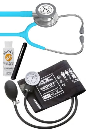 3M Littmann Classic III Stethoscope, ADC Phosphyg Sphygmomanometer, Prestige Penlight & Praveni Kit